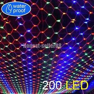 Color 200 LED Net Fairy Light Christmas Wedding Party