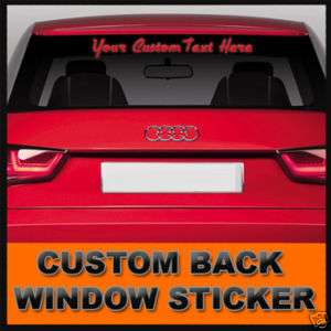 CUSTOM TEXT WINDSHIELD VINYL STICKER DECAL LETTERING