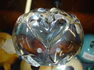 Charming Steuben Crystal Paperweight  Love Birds