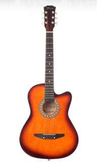 38 Inch Cutaway Acoustic Guitar   Sunburst 815584012338