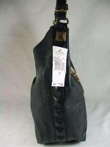 Michael Kors Calista Leather Large Shoulder Bag Purse Indigo