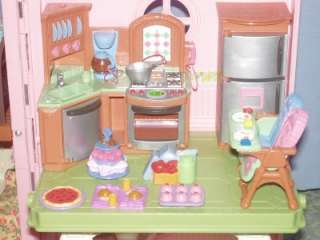 FISHER PRICE LOVING FAMILY DOLLHOUSE LOADED HUGE LOT FURNITURE