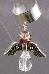 Crystal Guardian Angel Ear Cuff Wrap Spiritual Cuffs