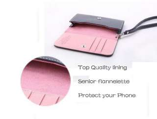 Luxury Leather Wallet Bag+Case Cover+Card Slots For iPhone4 4G/4S 3G
