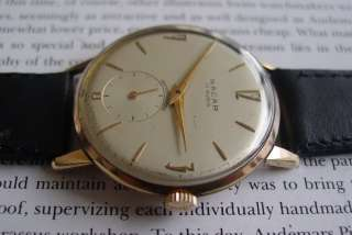 NACAR 17 RUBIS SUB SECOND VINTAGE MENS WRIST WATCH 1950