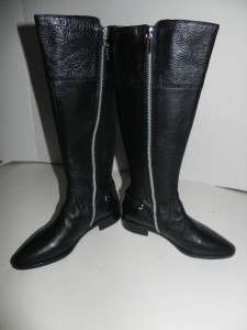 Michael Kors Carney Black Leather Riding Boots size 5.5 NIB