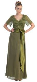 Short Sleeve Mother Of The Bride Special Event Dress