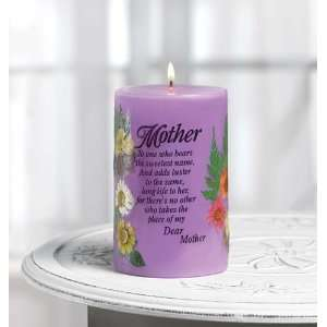 Mother Mom Candle Poem Chamomile Tea Scent Dried Flower