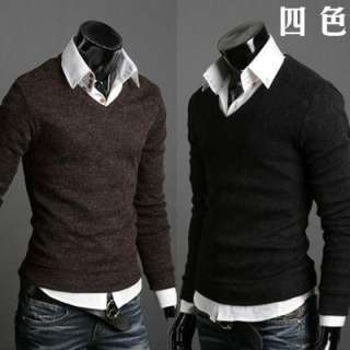 Premium Knit V  Neck Knit collection Casual Mens sweater tops MS011