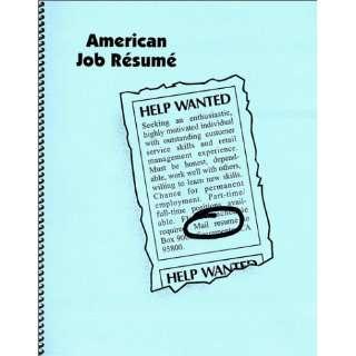 American Job Resume (9780967679204) Juana Rodriguez Books