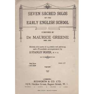 Pianoforte accompaniment by E. S. Roper,etc: Maurice Greene: Books