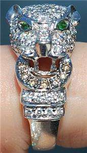 Sonia B Bitton ^~ PANTHER ~^ cat 14k solid White GOLD, Diamond