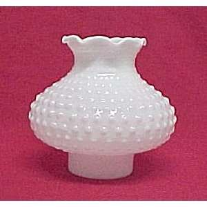 White Milk Glass Hobnail Table Lamp Shade Wall Light Home