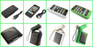 Lighter Shape 3G 3Gs iPhone4 Solar Power Charger White