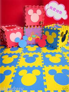 Mickey Mouse head Figure Foam Floor Puzzle Mat Nursery Soft Mat 4pcs