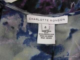 Charlotte Ronson Multi Colored Short Sleeve Dress 4