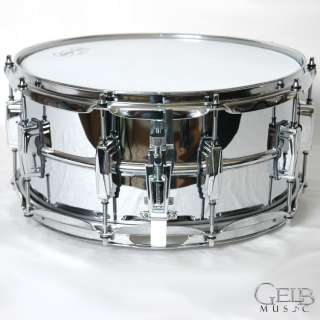 LB402BB 6.5 X14 Chrome Over Brass Snare Drum Blue & Olive