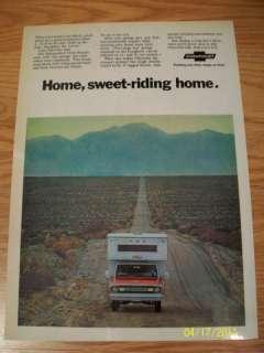 1970 AD CHEVT CHEVROLET PICKUP TRUCKS OLD RARE