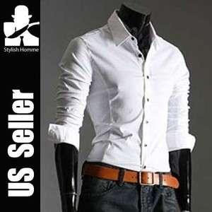 StylishHomme Mens slimline casual Shirts S 44 (Sz XS~L)