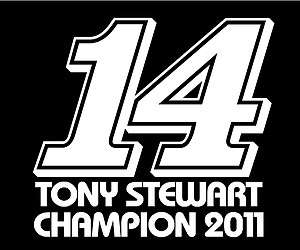 14 TONY STEWART NASCAR CHAMPION 2011 truck car window decal bumper