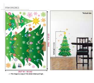 CHRISTMAS TREE Mural Art Wall Window Deco Vinyl Sticker