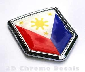 Philippine Flag Car Chrome Emblem 3D Decal Sticker