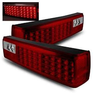 87 93 Ford Mustang Red/Clear LED Tail Lights Automotive