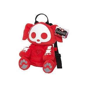 Skelanimals TRU Exclusive Plush Backpack  Red Dax