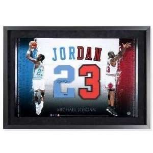 28ca4457497b Michael Jordan Autographed University of North Carolina Chicago Bulls Jersey  Numbers Piece Framed UDA on PopScreen