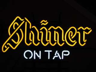Shiner Bock Beer Logo ON TAP Neon Light Promotional Bar Sign NEW USA