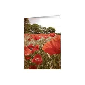 Mothers day card   red poppy flower Card Health
