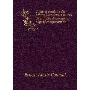 dimensions Exposé comparatif de . Ernest Alexis Courval Books