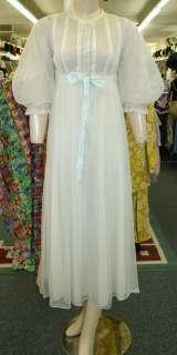 Vintage Gossard Artemis Gold Stripe Gown Robe Peignoir Set