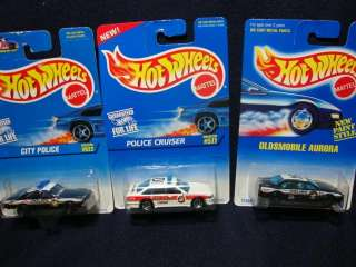 Hot Wheels   Police Cruiser #577, City Police #622 and K 9 Police