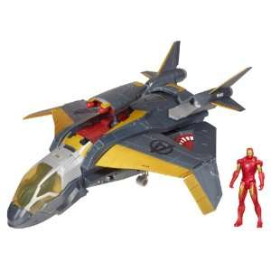 Avengers Quinjet Attack Vehicle w/ Iron Man Toys & Games