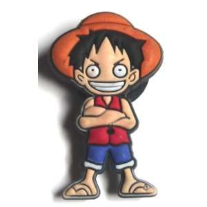 Monkey D Luffy in One Piece Manga Jibbitz Crocs Hole Bracelet Shoe