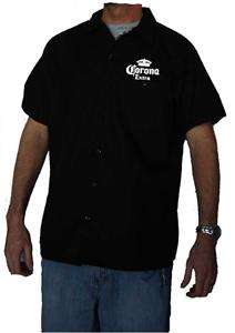 DICKIES Corona Beer Mechanic Work Shirt New Short Sleeve Button Up
