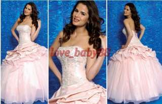 Brand Wedding Dress Bridal Bridesmaid Gown/Prom dresses Evening Pink