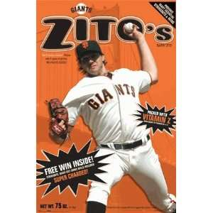 Barry Zito of the San Francisco Giants MLB sports poster