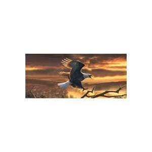 Sunset Bald Eagle Rear Window Graphic Automotive