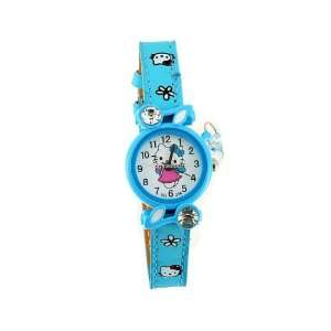 Cute Hello Kitty Girls Watch Slim PU Leather Watchband