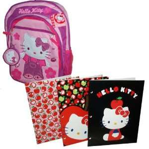 / School Bag and 3 Cute Hello Kitty Pocket Folder Toys & Games