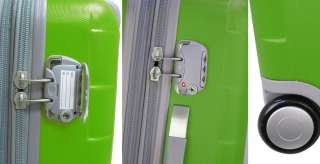 Heys CUBIS Expandable TSA Luggage Set NEON LIME GREEN 806126011445