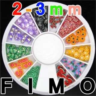 240 Flower Fruit Animal FIMO Slice Colored Flower Nail Art Decoration