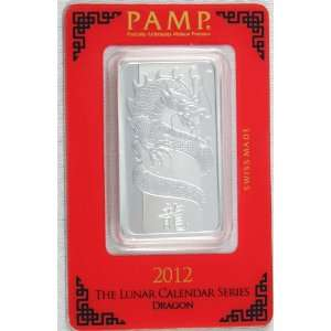 Dragon 1 oz Ounce Silver Bar .999 Fine Assay Certificate Gem Sealed