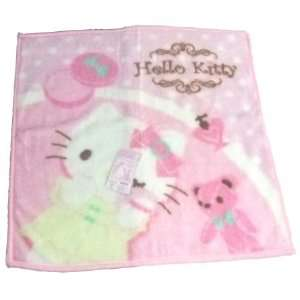 Sario Hello Kitty W/bear Blanket Pink