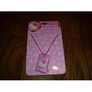 Sanrio Hello Kitty Pink Dog Tag Style Necklace Sports