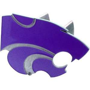 Kansas State Wildcats NCAA Pewter Trailer Hitch Cover by Half Time