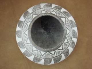 Native American Pottery Horse Hair Pot by Gary Yellow Corn Acoma