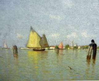 WALTER BLACKMAN b.1847 American LISTED Venice Boats